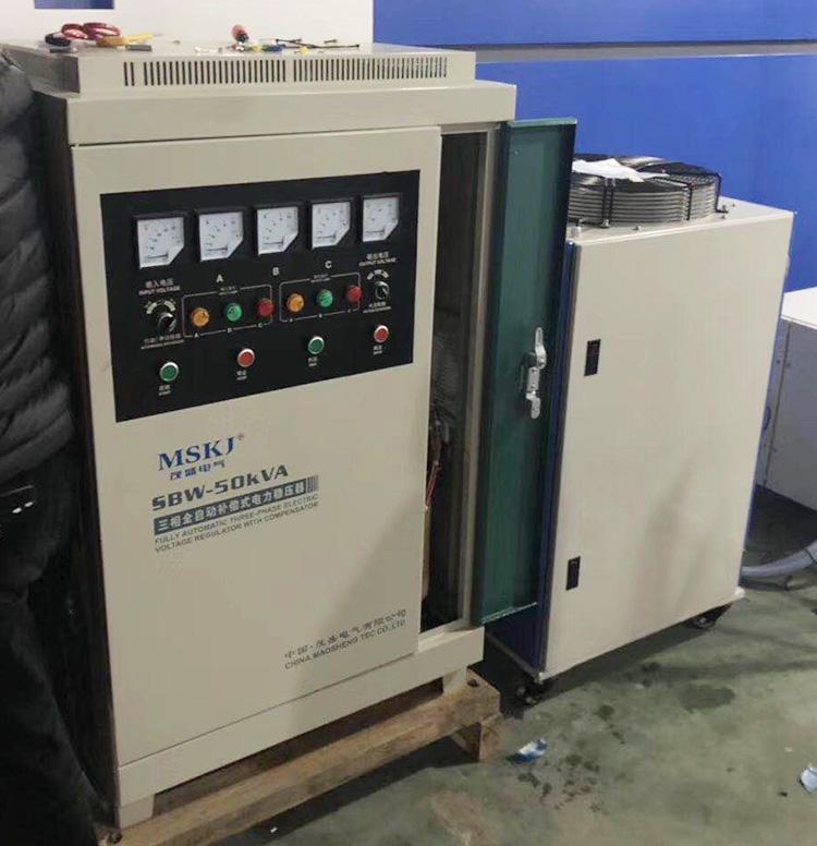 SBW-50KVA稳压器大族激光安装现场